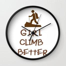 Girl Climbing Climb Gift Wall Clock