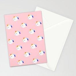 Kawaii rainbow fattycorn pattern Stationery Cards