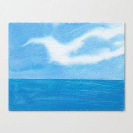 White Dove Sky Canvas Print