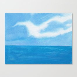 White Dove Sky Canvas Print