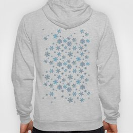 """Embroidered"" Snowflakes Hoody"