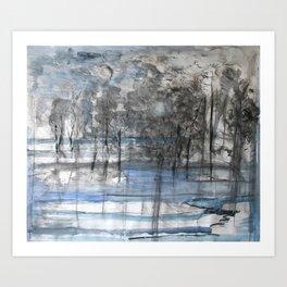 Tree Calligraphy No.1 Art Print