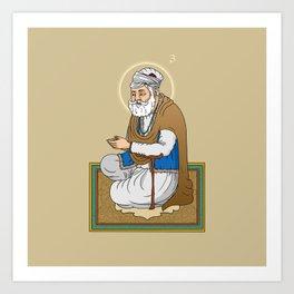 Sri Guru Amar Das Ji Art Print