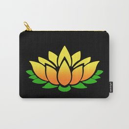 Yellow Lotus Carry-All Pouch