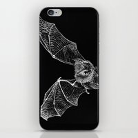 bat iPhone & iPod Skins featuring Bat by Cortney Palmer Art
