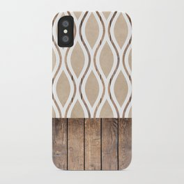 Wood Texture Ogee Pattern iPhone Case