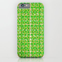 Four leaf clovers and gold horseshoes that are lucky for some iPhone Case
