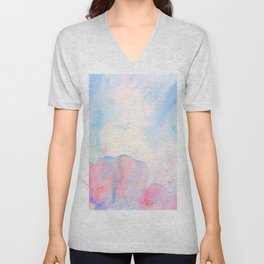 Watercolor Abstract Landscape Pattern Unisex V-Neck