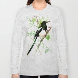 Magpie Bird on the Tree Long Sleeve T-shirt