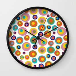 Eyes on the 60s -white Wall Clock