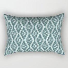 Pine and Mint Ikat Rectangular Pillow