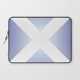 flag of scotland - with color gradient Laptop Sleeve