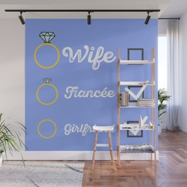 Girlfriend Fiancee Wife hen Party Wall Mural
