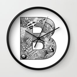 Cutout Letter B Wall Clock