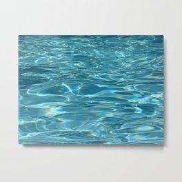 Blue Water - Pool - Beach - Ocean  Metal Print