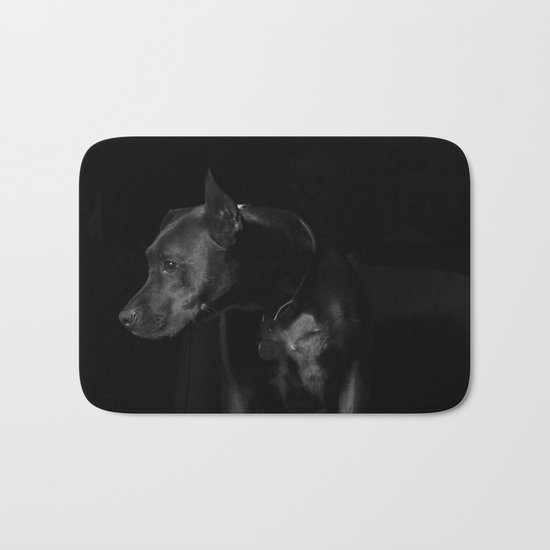 The black dog 7 Bath Mat