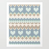 knitting Art Prints featuring knitting by alisblack