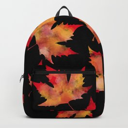 Maple leaves black Backpack