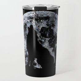 Wolf And Moon Travel Mug