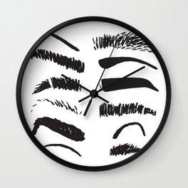 Sketchy Eyebrows Wall Clock