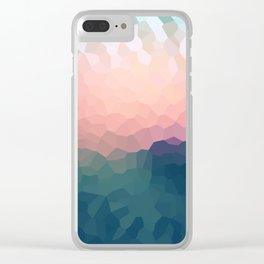 Abstract blue - pink background . Clear iPhone Case