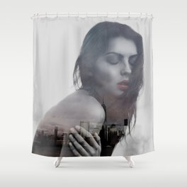lonely in the city Shower Curtain
