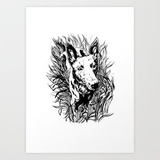 Handsome in the Grass Art Print
