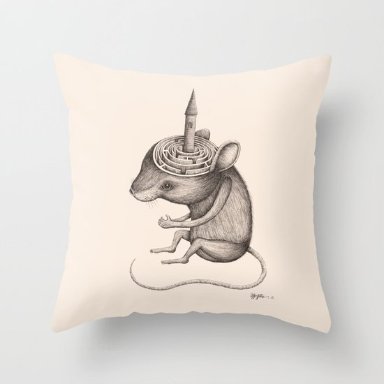 'Lost In My Mind' Throw Pillow