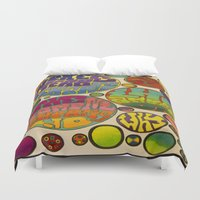 vonnegut Duvet Covers featuring There is No Why by Mickjaggernaut