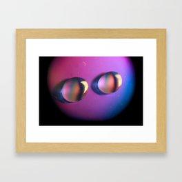 Coloured water Framed Art Print