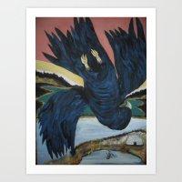 Crow Anishnabe Legend Art Print