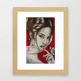 Lady Red Framed Art Print