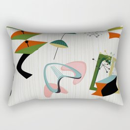 Retro Atomic Era Inspired Art Rectangular Pillow
