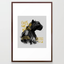 Punk Panther Framed Art Print
