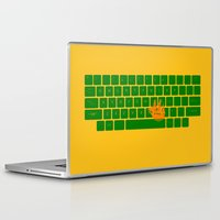 spaceship Laptop & iPad Skins featuring Spaceship by Dampa