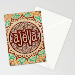 Ajeva Logo Banner Stationery Cards