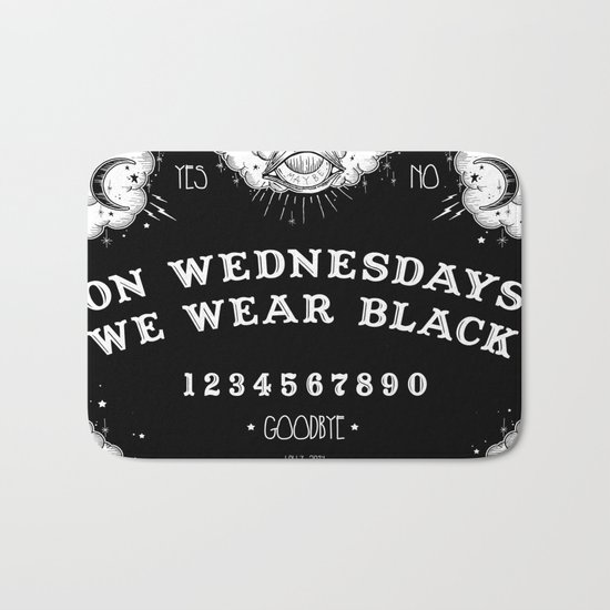 ☽ ON WEDNESDAYS WE WEAR BLACK ☾ Bath Mat