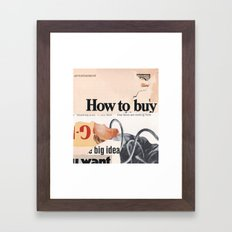the lie was the weapon and the plot was empty Framed Art Print