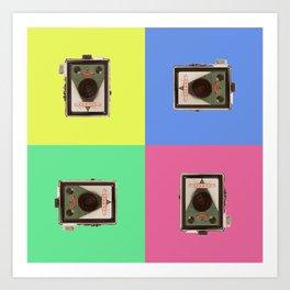 Popart box camera Art Print
