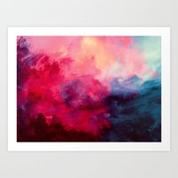 water color Art Prints featuring Reassurance by Caleb Troy