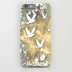 Birds on beige messy kaleidoscope iPhone 6s Slim Case