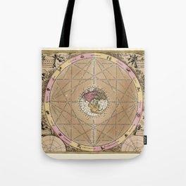 Vintage Constellation Chart 1707 Tote Bag