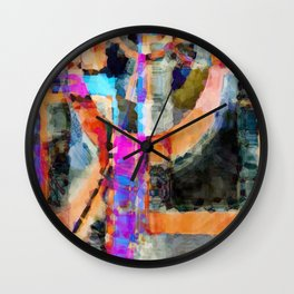 Artful Spirit Mosaic Colorful Geometric Abstract Wall Clock