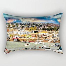 Teignmouth Water Paint Rectangular Pillow