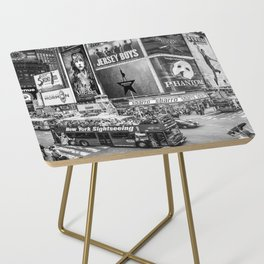 Times Square II (B&W widescreen) Side Table