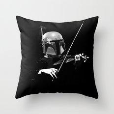 Dark Violinist Fett Throw Pillow