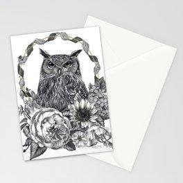 Owl Illustration Stationery Cards