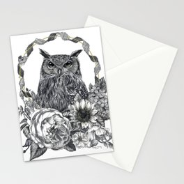 Owl Illustration Stationery Cards