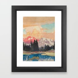 Storms over Keiisino Framed Art Print