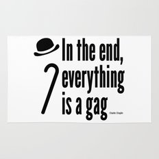 In the end, everything is a gag Rug